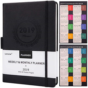 Planner 2019 W Pen Holder Academic Weekly Monthly Yearly Planner Thick Paper