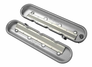 Holley 241 130 Ls Valve Covers Vintage Finned Natural