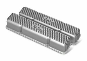 Holley 241 243 Sbc Holley Valve Covers Finned Non Emis Raw