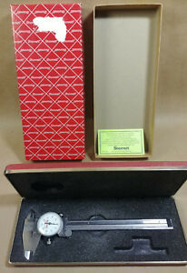 Vintage Starrett No 120 Dial Calipers 6 In Original Box Case