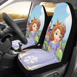 Custom Princess Sofia Car Seat Covers Front Seats Protector Cushions Set Of 2