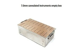 Empty Orthopedic 7 0mm Cannulated Screw Rack Instrument Case Box