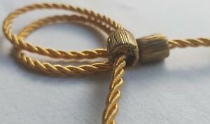 Vintage Gold Metallic Miliatry Clasp Rope Cording Adjustable Bobbles French