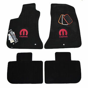 Chrysler 300 300c Mopar Floor Mats Black 32oz 2 ply Custom Embroidered