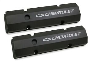 Holley 241 288 Gm Fabricated Aluminum Valve Covers Black Sbc 283 350 Chevrolet