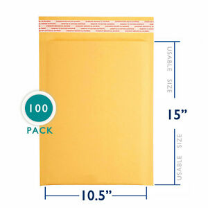 100 5 Kraft Bubble Padded Envelopes Mailers 10 5 X 16 From Packagezoom 100 Pack