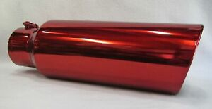 Transparent Chrome Red 4 Inlet 6 Outlet 18 Long Diesel Exhaust Tip