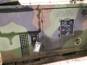 Mep 803a 10kw Diesel Generator Military 120 240 60hz 1 3 Phase 2855 Hours