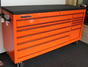 Snap on Kra2432pkh7m 73 12 drawer Double Bank Roll Cab Tool Box Workstation
