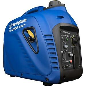 Westinghouse 2200 w Quiet Portable Gas Inverter Generator Home Backup Rv Camping