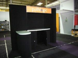 Abex 600 Fabric Display System Expo Pop up Booth Trade Show Display Purple Grey