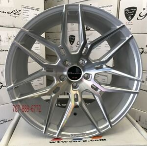 20x9 20x10 5 Giovanna Bogota Silver Machine Rims Fits Mustang Gt Concave Wheels