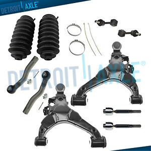 For 2008 2016 Toyota Sequoia Tundra Front Lower Control Arms Tierods Sway Bars