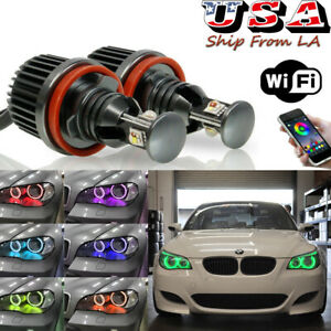 H8 Rgb Angel Eyes Led Canbus Phone Wifi For Bmw E90 E92 E60 128i 328i 335i M3 X5