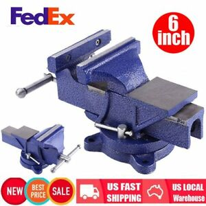 6 Mechanic Bench Vise Table Top Clamp Press Locking Swivel Base Heavy Duty Fa