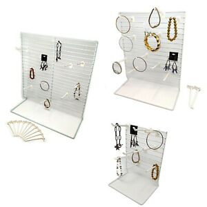 Lightweight Counter Top Wire Product Display W 4 D White Peg Hooks Wholesale