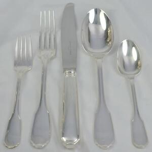 Christofle Germain Sterling Silver 5 Piece Place Setting No Mono