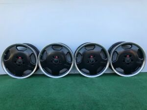 Rare Mercedes Benz Amg Monoblock 17 Genuine Factory Oem Black Wheels Rims Set