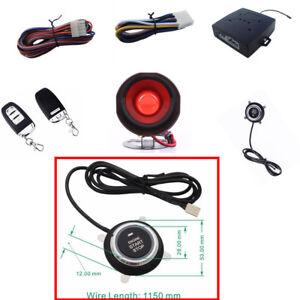 Pke passive Keyless Entry Car Alarms Security Systems Fits For 95 Dc12v Cars