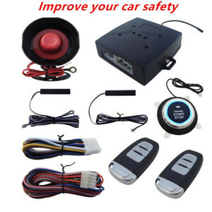 Keyless Entry Car Alarm Systems Ignition Push Button Starter Remote Engine Start