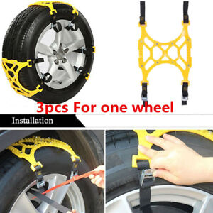 Car Snow Tire Anti Skid Chains For Mud Road Applied To The Tire Width 165 275mm