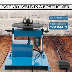 110v 50hz Welding Positioner Turntable With Dc24v 20w Drive Motor Foot Switch