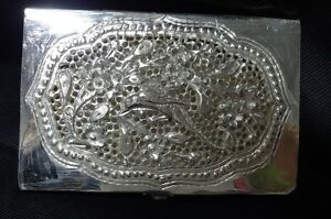 Handmade Engraved Silver Business Name Credit Id Card Case Holder 02