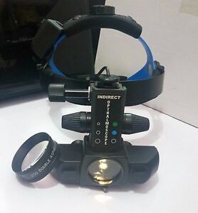 Rechargeable Wireless Indirect Ophthalmoscope With 90 D Lens Accessories P 8787