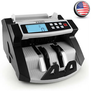 Aibecy Digital Currency Counter Cash Money Value Counterfeit Detector Lcd Uv