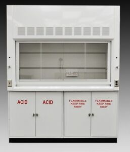 Chemistry Laboratory 6 Fume Hood W Both Acid Flammable Storage Cabinets