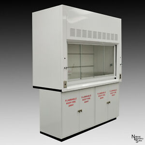 Fume Hood 6 With 2 X 48 Flammable Storage Cabinets Valves Dual Sash Light