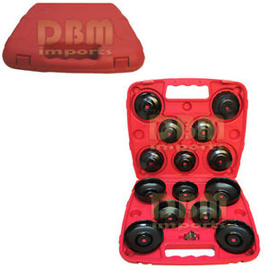 14 Pcs Oil Filter Wrench Socket Cup Type Style 3 8 Dr Cap 65 14f To 100 15f