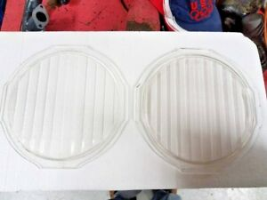 Pair Vintage Early Model T Ford Headlight Lens Ford Script h