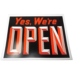 Extra Large Yes We re Open Closed Window Sign 15 H X 19 W