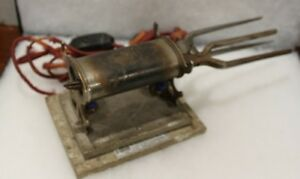 Antique Solar Electric Mfg Co Double Curling Iron Heater With 2 Curling Irons 1