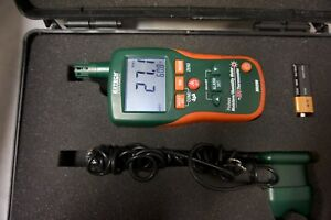 Extech M0290 8 in 1 Pinless Moisture Meter And Ir Thermometer W Case