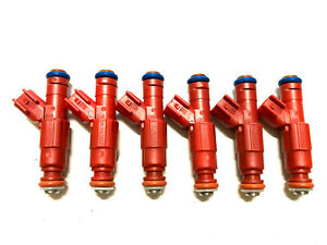 Bosch Upgrade12 hole Jeep Cherokee 1999 4 0lfuel Injector Set 6 Ev6 24lb Genuine