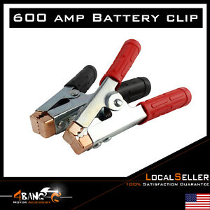 Pair 600a Heavy Duty Battery Clamp Jumper Cable Booster Secure Quick Connetor