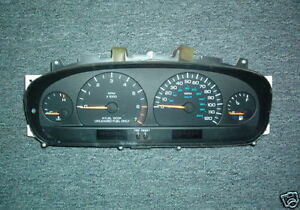 1997 1998 Dodge Caravan Plymouth Voyager 4spd Instrument Cluster Tach red Plug