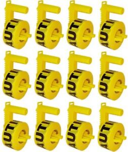 12 Stringliner 42020 1000 Yellow Caution Tape Dispensers W Roll Caution Tape