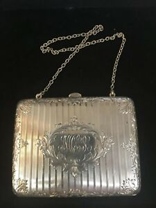 Antique Victorian Sterling Silver Dance Card Case