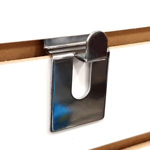 Slatwall Open End Basket Holding Notch Hook Chrome Wholesale