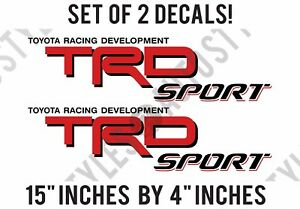 Trd Sport Truck Bed Vinyl Decal Replacement Stickers Fits Toyota Tundra Tacoma