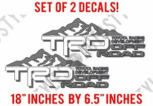 Toyota Trd Mountain Off Road Tacoma Tundra Pro Sport 16 17 Decal Sticker Pair