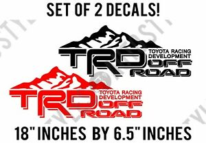 Toyota Racing Development Trd Pair For Tundra Tacoma Off road Mountain Sticker