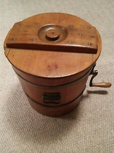 005 Vtg C D 8 Philadelphia Butter Churn Keystone Wood Antique