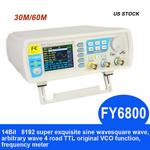 60mhz Dual channel Arbitrary Waveform Dds Function Signal Generator Pulse 30mhz