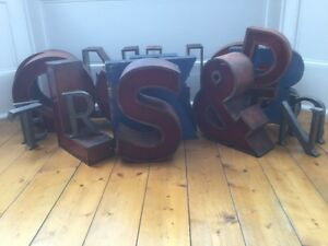 1950 60 S Copper Perspex Letter S Sign Name Initial Prop Industrial