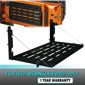 For Jeep Wrangler Jk 07 17 Tailgate Table Cargo Carrier Support Rack Flexible