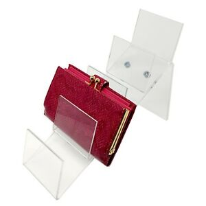 Acrylic Counter Top Clutch Handbag Holding Display For Retail Wholesale